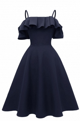 Sexy Spaghetti Straps Cascading Ruffles Vintage Dresses   Womens High quality princess Cocktail Dress_2