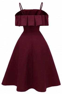 Sexy Spaghetti Straps Cascading Ruffles Vintage Dresses   Womens High quality princess Cocktail Dress_6