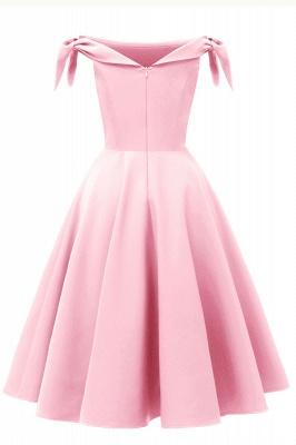 Womens Bateau Burgundy Navy Ruby Vintage Dresses | Retro Princess Short Party Dress_17