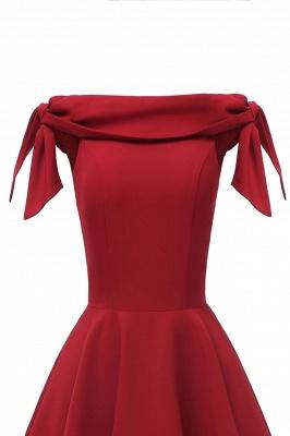 Womens Bateau Burgundy Navy Ruby Vintage Dresses | Retro Princess Short Party Dress_15