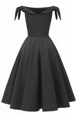 Womens Bateau Burgundy Navy Ruby Vintage Dresses | Retro Princess Short Party Dress_22