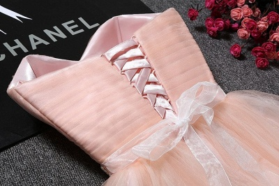 Tulle Ruffles Pink Homecoming Dress pas cher   Robe courte chérie Hoco_4
