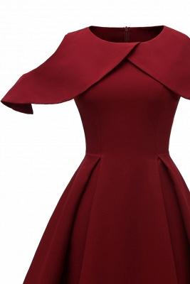 Elegantes U-Ausschnitt Halbarm 50er Jahre Kleid | Vintage Rockabilly Kleid Günstig_7