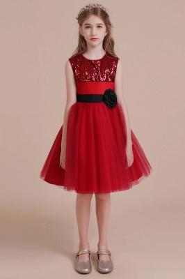 Fabulous Tulle A-line Flower Girl Dress |Graceful Sequins  Little Girls Dress for Wedding_4