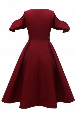 Elegantes U-Ausschnitt Halbarm 50er Jahre Kleid | Vintage Rockabilly Kleid Günstig_6