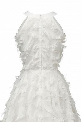 Elegant Halter Feather Princess Vintage Dresses | Retro A-line Burgundy Homecoming Dress_19