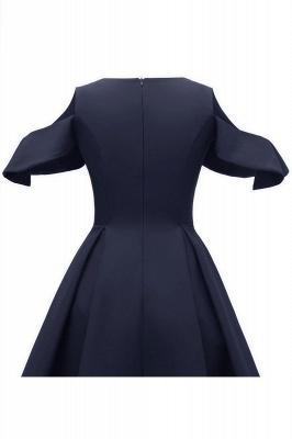 Elegantes U-Ausschnitt Halbarm 50er Jahre Kleid | Vintage Rockabilly Kleid Günstig_12