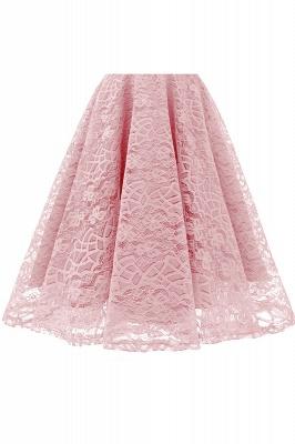 Retro Lace Cap Sleeves Dress Elegant Cocktail Party V-neck A Line Vintage Dress_10