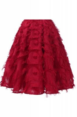 Elegant Halter Feather Princess Vintage Dresses | Retro A-line Burgundy Homecoming Dress_15