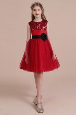 Fabulous Tulle A-line Flower Girl Dress |Graceful Sequins  Little Girls Dress for Wedding_5
