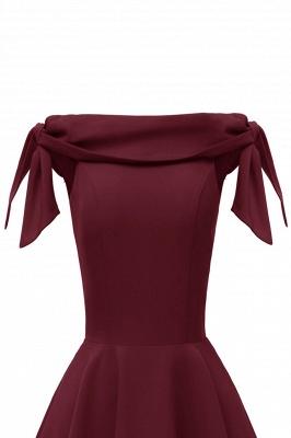 Womens Bateau Burgundy Navy Ruby Vintage Dresses | Retro Princess Short Party Dress_25