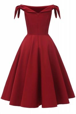 Womens Bateau Burgundy Navy Ruby Vintage Dresses | Retro Princess Short Party Dress_12