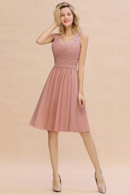 Кружевное длинное короткое платье с V-образным вырезом с поясом | Сексуальное коктейльное платье без рукавов с V-образным вырезом без рукавов_10