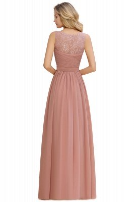 Beautiful V-neck Long Evening Dresses with soft Pleats | Sexy Sleeveless V-back Dusty Pink Womens Dress for Prom_15