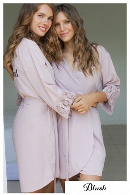 Adult Satin Bridal Robes Silk Floral Robe Dressing Gown Bridesmaid Robes bachelorette gifts Bridal Party Robes_2