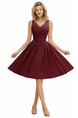 Кружевное длинное короткое платье с V-образным вырезом с поясом | Сексуальное коктейльное платье без рукавов с V-образным вырезом без рукавов_3