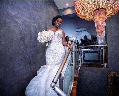 Robes de mariée de luxe en dentelle perlée sirène sweetheart | Appliques spaghetti-sangles robes de mariée pas cher_3