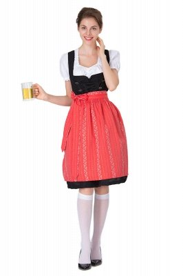 Brilliant Belt Short-Sleeves Sexy Fashion Beer Dresses | Bow Women's Dresses