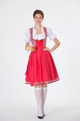 Amazing Ruffles Scoop  A-line Fashion Beer Dresses | Knee-Length Bow Women's Dresses