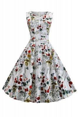 Maravilloso Scoop sin mangas una línea de cremallera vestidos de moda | Vestidos de mujer hasta la rodilla