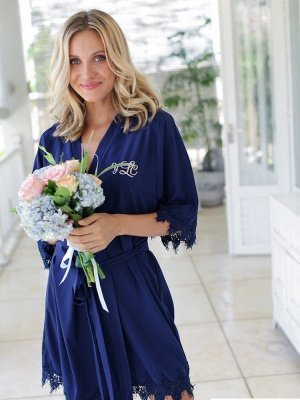 Adult Satin Bridal Robes Silk Floral Robe Dressing Gown Bridesmaid Robes bachelorette gifts Bridal Party Robes_6
