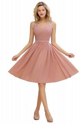 Кружевное длинное короткое платье с V-образным вырезом с поясом | Сексуальное коктейльное платье без рукавов с V-образным вырезом без рукавов_2
