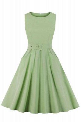 Wonderful Scoop Sleeveless Zipper A-line Knee-Length Women's Beer Dresses | Belted Fashion Dresses