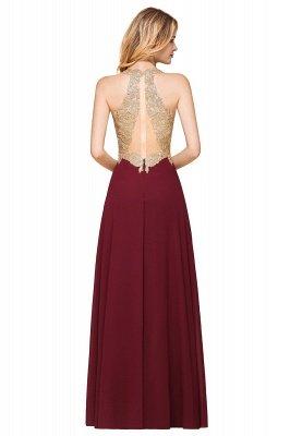 Великолепное бордовое вечернее платье без рукавов с v-образным вырезом | Дешевое Формальное Платье_11