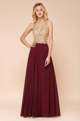 Gorgeous V-neck Sleeveless Burgundy Evening Dress | Cheap Formal Dress for Sale