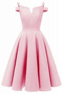 Mancherons sexy robes princesse vintage avec des sangles | Robe de cocktail en émeraude rétro à col en V pour femmes_1