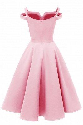 Mancherons sexy robes princesse vintage avec des sangles | Robe de cocktail en émeraude rétro à col en V pour femmes_14