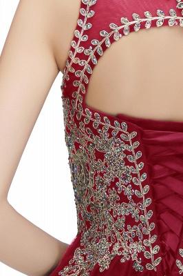 Lindos vestidos de fiesta de cuello redondo hinchados con apliques de encaje | Vestido de adolescentes negro sin mangas con espalda abierta con cuentas para cóctel_32