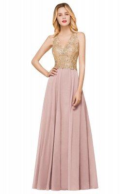 Великолепное бордовое вечернее платье без рукавов с v-образным вырезом | Дешевое Формальное Платье_1