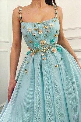 Robe de bal longue sexy sans bretelles spaghetti | Une ligne de perles fleurs robe de bal pas cher_2