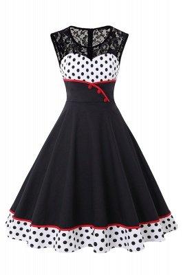 Gorgeous Sleevelwss Jewel Fashion Dresses | Polk-Dot Women's Dresses_1