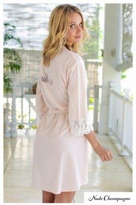 Adult Satin Bridal Robes Silk Floral Robe Dressing Gown Bridesmaid Robes bachelorette gifts Bridal Party Robes_4
