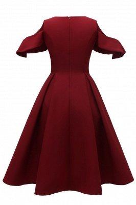 Sexy Scoop neck Half sleeves Front Cross Vintage Dresses | Womens Retro Princess Cocktail Dress_6