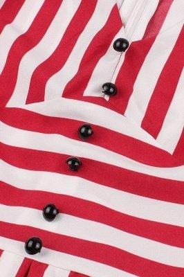 Excellent V-neck Stripes Fashion Beer Dresses   Knee-Length Women's Dresses_5