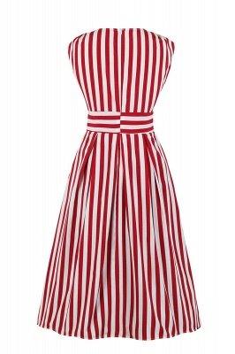 Excellent V-neck Stripes Fashion Beer Dresses   Knee-Length Women's Dresses_4