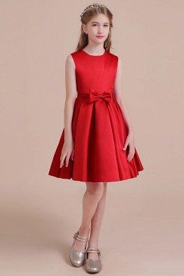 Gorgeous A-line Satin Flower Girl Dress   Latest Sleeveless Little Girls Dress for Wedding