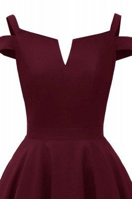 Mancherons sexy robes princesse vintage avec des sangles | Robe de cocktail en émeraude rétro à col en V pour femmes_19