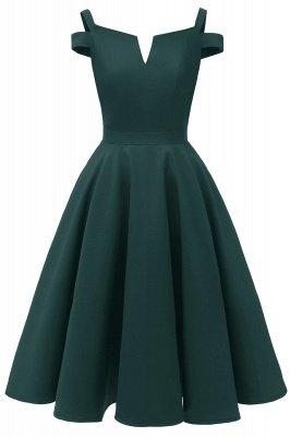 Mancherons sexy robes princesse vintage avec des sangles | Robe de cocktail en émeraude rétro à col en V pour femmes_4