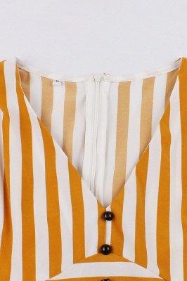 Excellent V-neck Stripes Fashion Beer Dresses   Knee-Length Women's Dresses_8