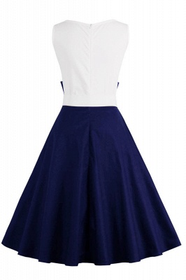 Ronni | Vintage A Line Two-toned 1950s Dress with Bow_14