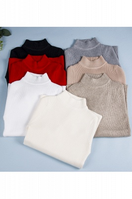 Fitted Top in a fine-knit viscose blend   Long Sleeves Round Neckline Sweater_14