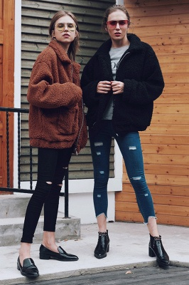 Going out Basic Regular Faux Fur Coat| Solid Colored Stand Long Sleeve Faux Fur White / Brown / Black_27