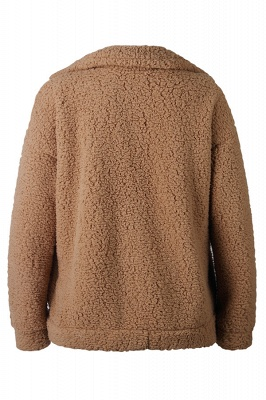Going out Basic Regular Faux Fur Coat| Solid Colored Stand Long Sleeve Faux Fur White / Brown / Black_8
