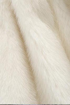 Abrigo con capucha de media longitud negro / blanco de piel sintética | Chaqueta de piel sintética con cuello chal artificial islandés_20