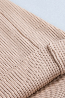 Fitted Top in a fine-knit viscose blend   Long Sleeves Round Neckline Sweater_11