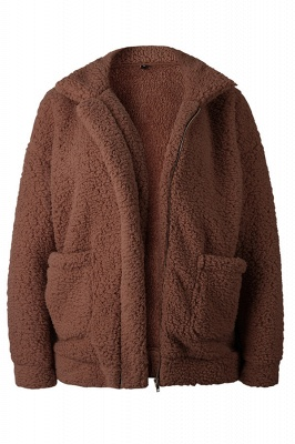 Going out Basic Regular Faux Fur Coat| Solid Colored Stand Long Sleeve Faux Fur White / Brown / Black_9